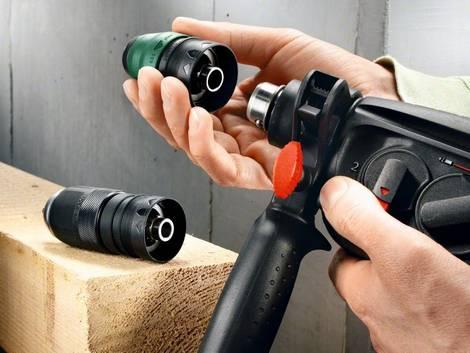 Bohrmaschine, Bohrhammer, Wechselbohrfutter, Foto: Bosch