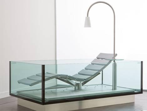 Badewanne, Material, Glas, bruchsicher, Panzerglas. Foto: Hösch