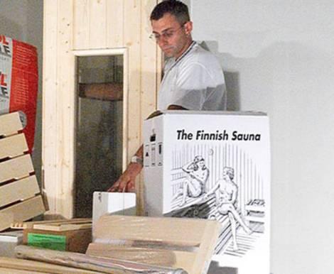Sauna, Sauna-Selbstbausatz, Selbstbausatz, Elementbauweise, Elementsauna