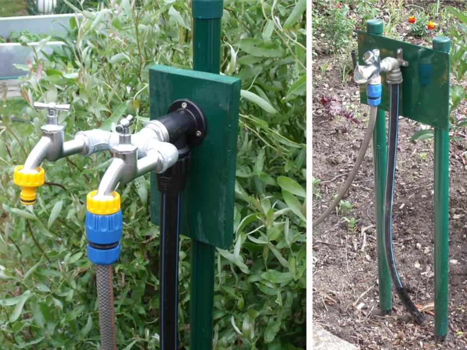 Wasseranschluss Im Garten Kaltwasserleitung Bauende