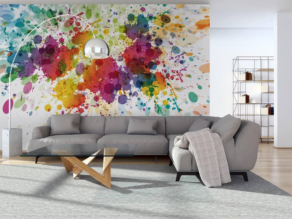 tapeten schrge wnde amazing tapete im was du darber. Black Bedroom Furniture Sets. Home Design Ideas