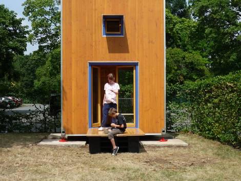 kleines Haus, schmales Grundstück, mobiles Haus, Minihaus, Wohncontainer, Foto: Prof. Han Slawik / slawik.net