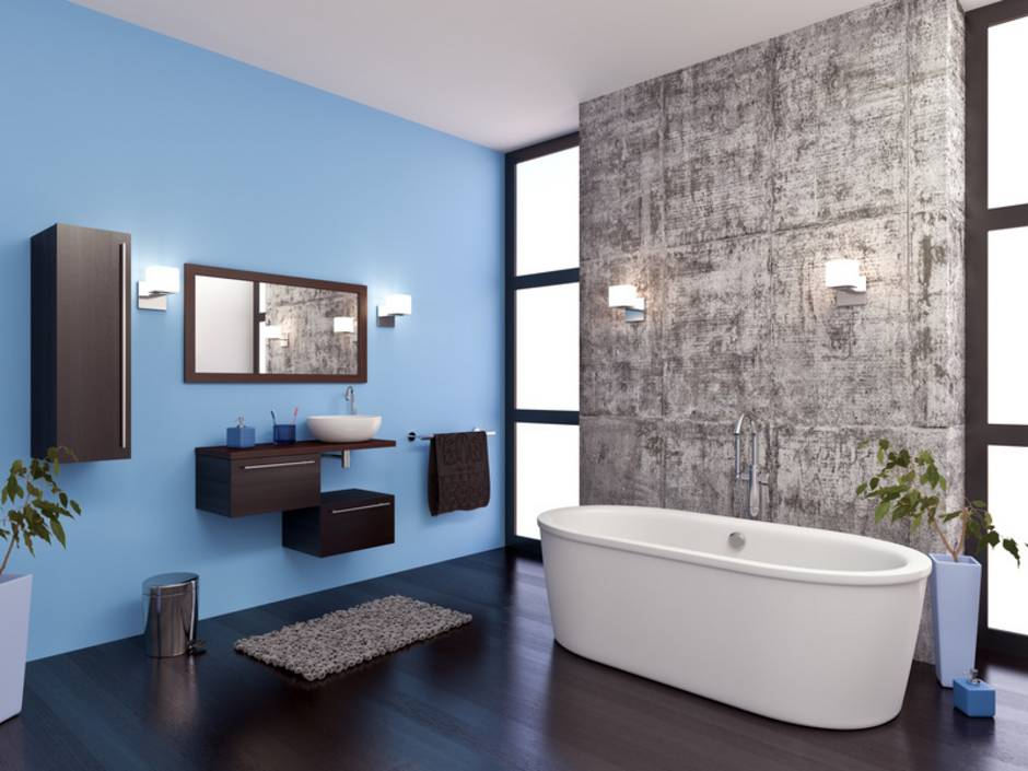 Latexfarbe, Badezimmer, keine Fliesen, Foto: Michel Nivelet / fotolia.com