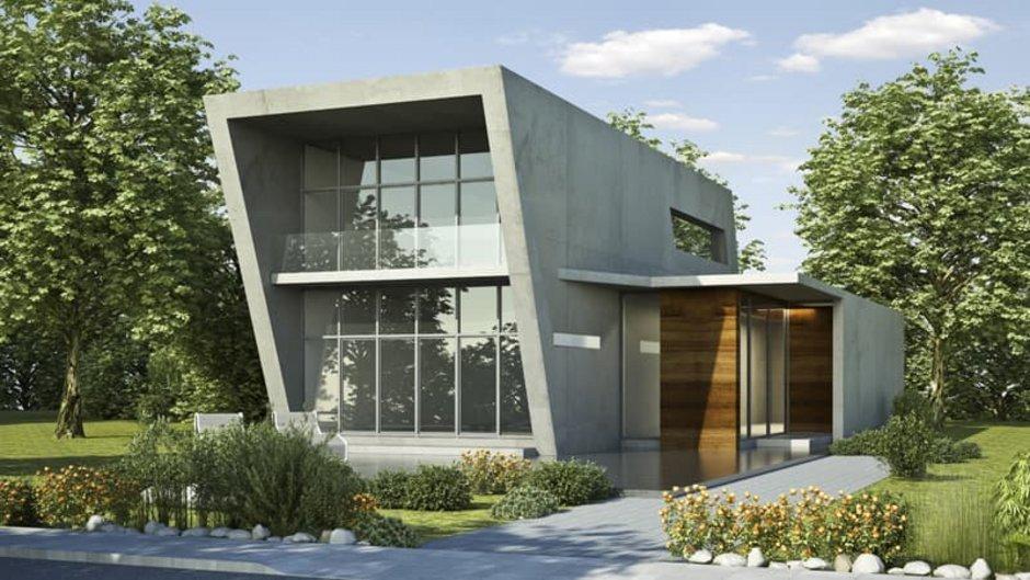 Fassadenvarianten, modernes Haus mit Betonfassade, Foto: KB3 / stock.adobe.com