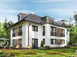 Mehrgenerationenhaus, großes, modernes Haus, aus dem Harten fotografiert, Foto: iStock.com sl-f