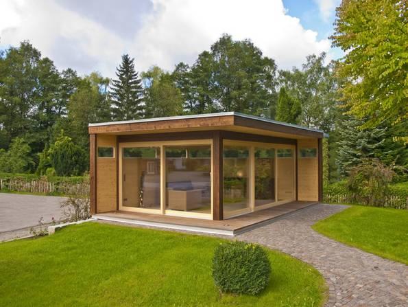 Gartenhaus, Nutzungsmöglichkeiten, Foto: Blockhausbau Hummel