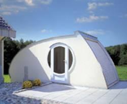 garage aus beton alu holz und stein. Black Bedroom Furniture Sets. Home Design Ideas