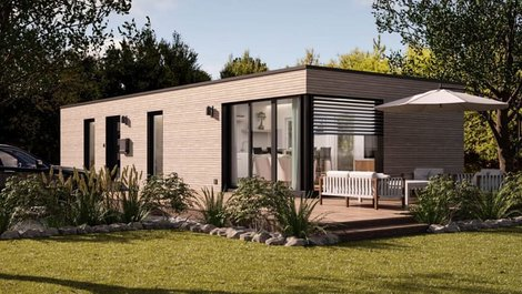 mobiles Haus, Modulhaus mit Terrasse, Foto: Onoxo Home