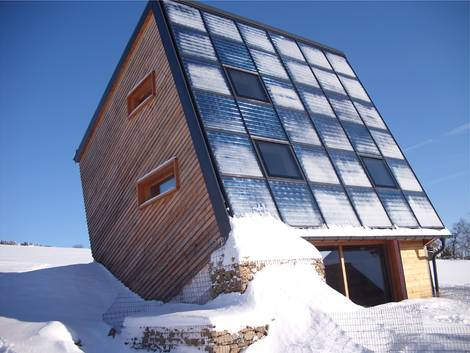 Sonnenhaus, Hanglagen, Heizperiode,  Kollektorfläche, Solarenergie, Sonnenstand