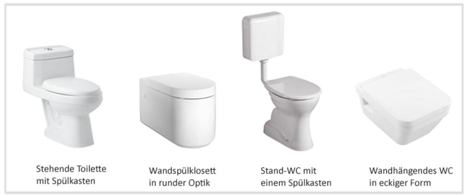 Toilettenmodelle, Fotos: okinawakasawa/Fotolia.com, Ideal Standard, Keramag GmbH, Villeroy & Boch