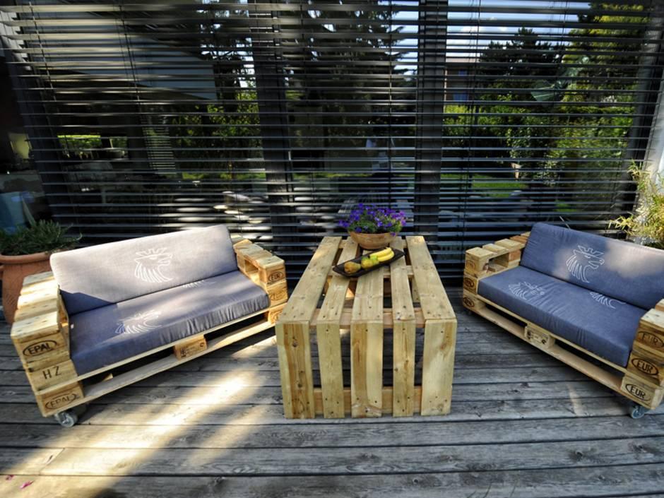 Palettenmöbel, Terrassenmöbel aus Europaletten, Foto: palettenmoebel.at
