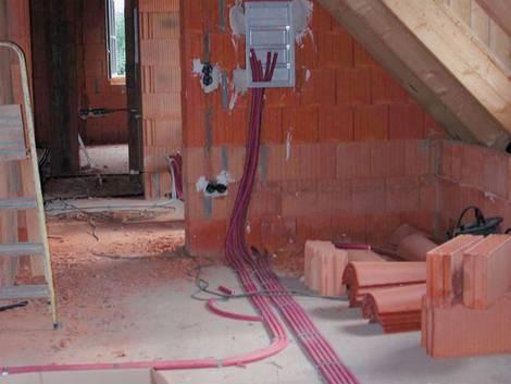 Smart Home, Rohbau, Kabel, Vernetzung, Foto: Elektro+/Fränkische Rohrwerke