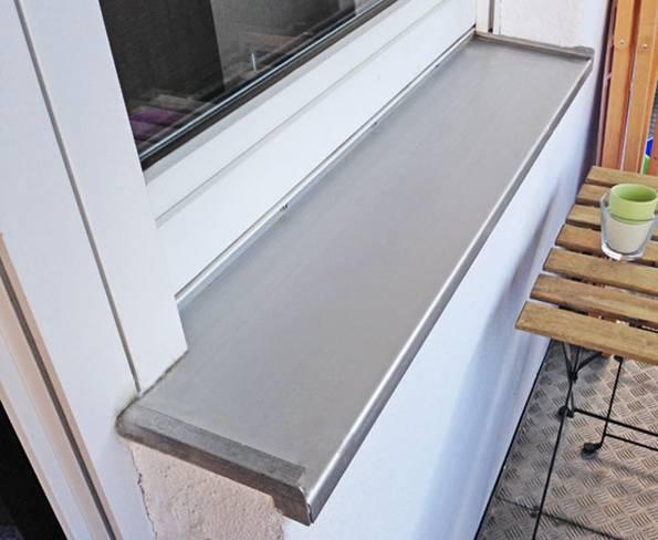 Fensterbank, außen, Alu, Aluminium, Foto: privat