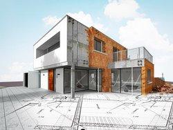 Grundrisse, ein Rohbau steht auf einem Grundriss, Foto: Chlorophylle / stock.adobe.com