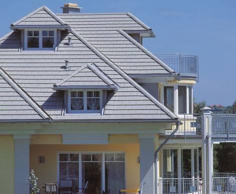 Dachsteine, Dacheindeckung, Haus, Foto: Monier Braas GmbH