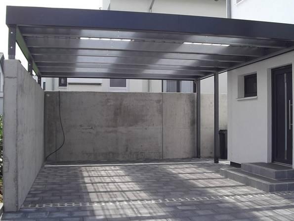 Doppelcarport, transparentes Dach, Foto: MyPort GmbH