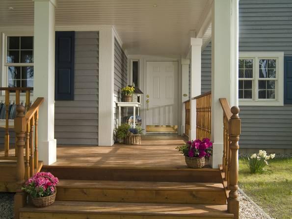 Amerikanische Häuser, Veranda, Foto: BostonHaus