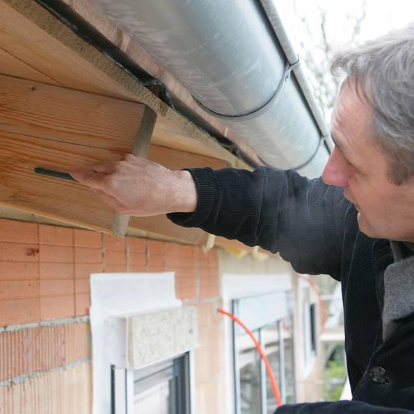 Mängelrüge, Mängelbeseitigung, Baumangel, Dachdämmung, Feuchtigkeit, Foto: Verband Privater Bauherren e.V.
