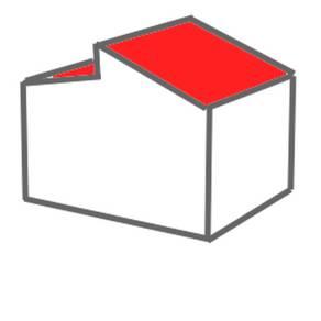 bebauungsplan, versetztes pultdach
