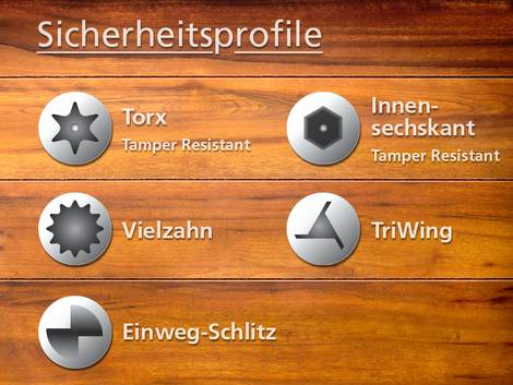 Sicherheitsprofile, Sicherheit, Profil, Schraubenprofil, Kopf