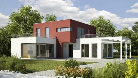 Kubushaus, großes Kubushaus mit Anbauten und Balkonen, Foto: KB3 / stock.adobe.com