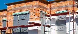 Dämmung, Wärmedämmung, Fassadendämmung, Haus aus Ziegelsteinen mit WDVS, Foto: Gina Sanders / fotolia.com
