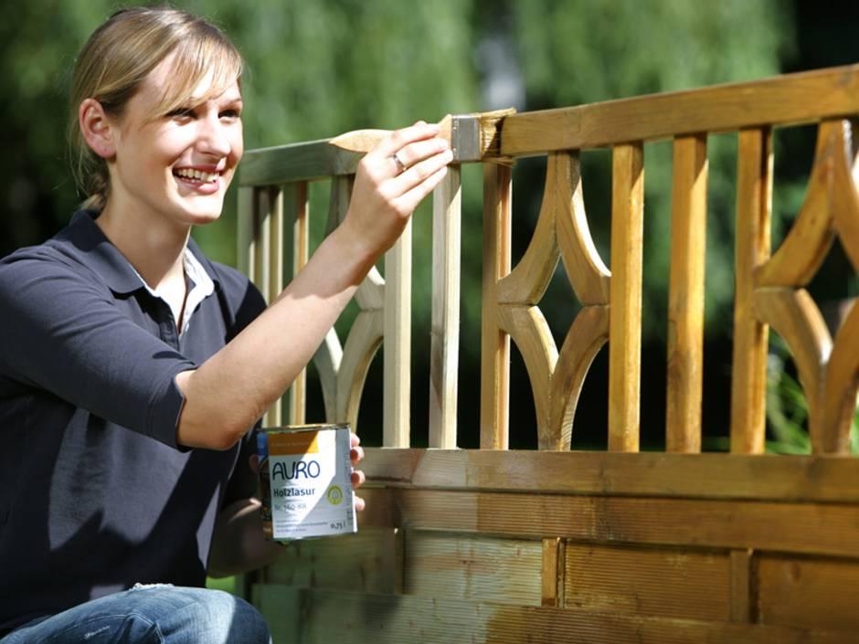 Garten, Bank, Holzschutz, Foto: AURO