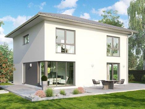 Stadtvilla bauen, Stadtvilla im Bauhausstil, Foto: Helma Eigenbau AG