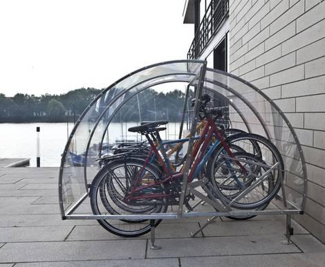 Fahrradgarage, Kinderwagen, Flügelöffnung, Foto: Cervotec KG