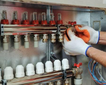 Heiztechnik, Fußbodenheizung, Foto: iStock / yunava1