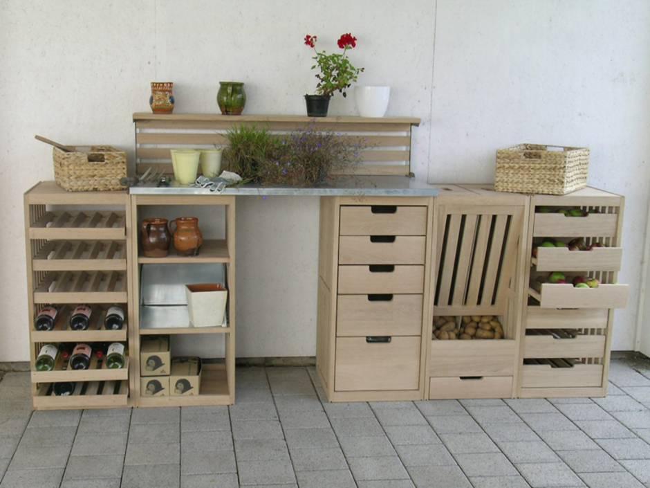 im Keller lagern, Kellerlagerung, Vorrat, Obst, Gemüse, Kartoffel, Lebensmittel, Foto: gartenmoebel-klassiker.de