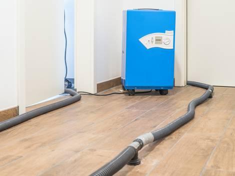 Bautrocknung, Wohnung mit Estrichtrocknung, Foto: schulzfoto / adobe.stock.com