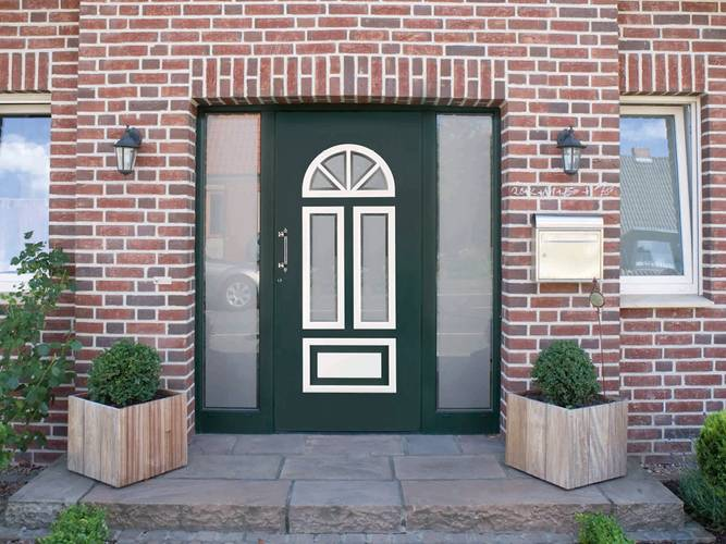 hochwertige heroal Haustür grün, Foto: heroal
