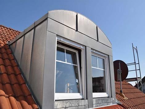 Rundgaube, Segmentbogengaube, Foto: Schmellenkamp – www.DieDachbaumeister.de