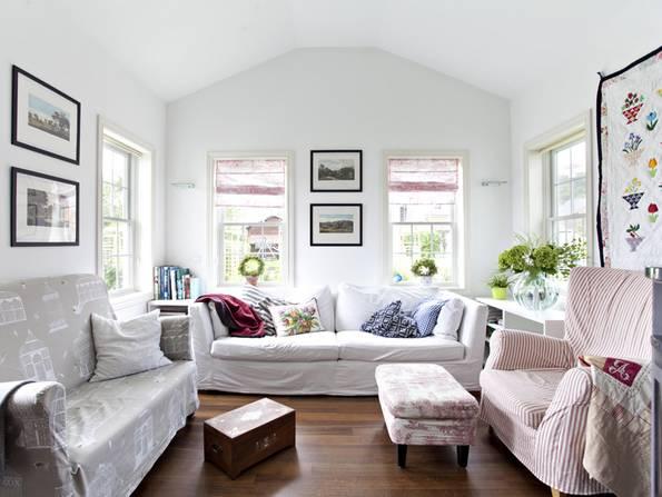 Amerikanische Häuser, Vestibül, Loft, offener Dachstuhl, Foto: BostonHaus