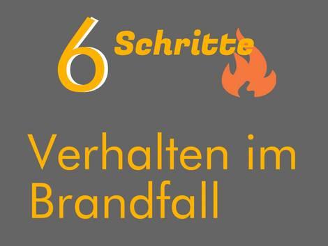 Brandschutz, Verhalten im Brandfall, Grafik: bauen.de