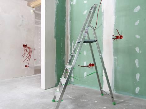 Leichtbauwand, Trockenbauwand, Elektrik, Foto: rsaulyte / iStock