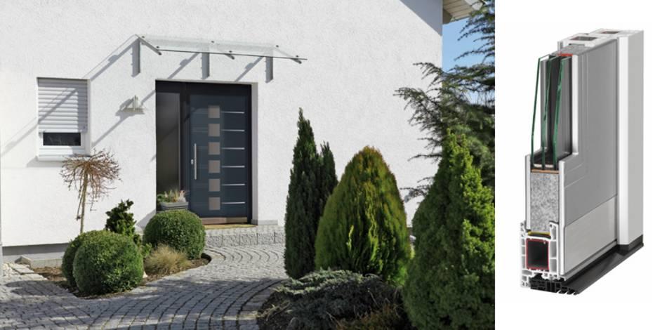 Haustür, Wärmedämmung, Kunststoff, Foto: tdx/Gugelfuss