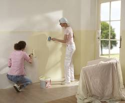 Putz überstreichen, Rollwalze, Farbe, Wand, Foto: Henkel Ceresit