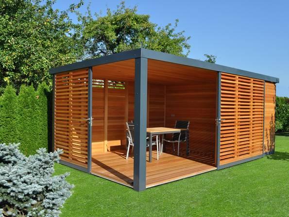 Gartenhaus, Sitzgruppe, Schuppen, Foto: cubiegardenhouse.com