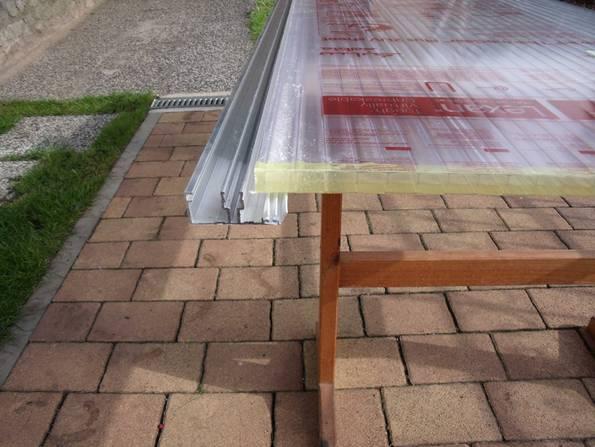 Terrassenüberdachung, diy, Bausatz, Gartenüberdachung, Hohlkammerplatte, Foto: Steffen Malyszczyk