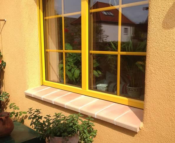 Fensterbank, außen, Ton, mediterran, Foto: Rimini Baustoffe GmbH