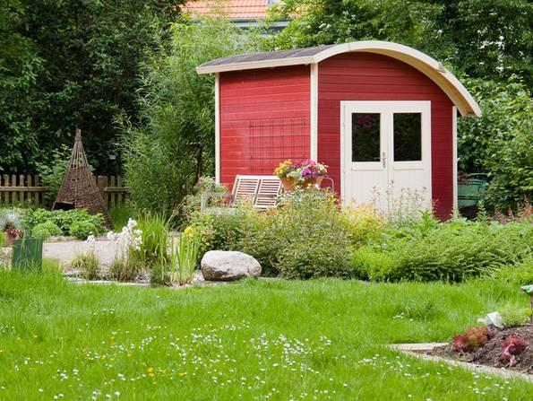 Gartenhaus, Gartenhaus Holz, Foto: SC-Photo/ fotolia