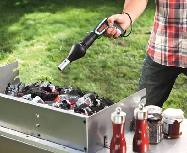 Akkuschrauber, Grill, grillen, Fön, Blasebalg, BBQ, Barbecue, Foto: Bosch