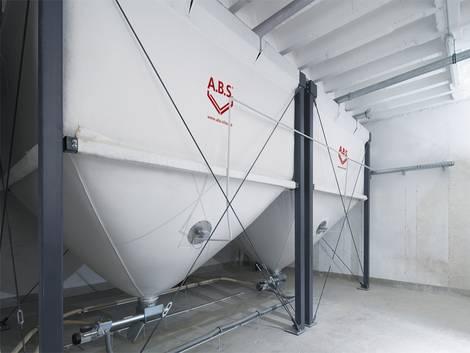 Pelletsilo, Holzpellets lagern, Foto: ABS Silo- und Förderanlagen GmbH