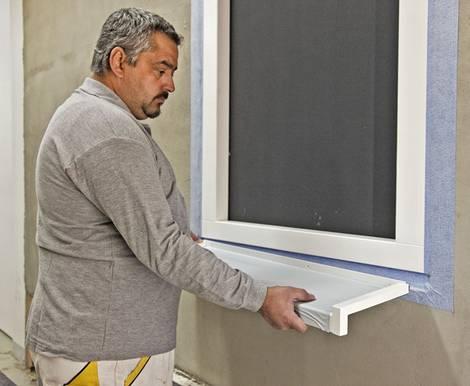 fensterbank au en einbauen schritt f r schritt erkl rt. Black Bedroom Furniture Sets. Home Design Ideas