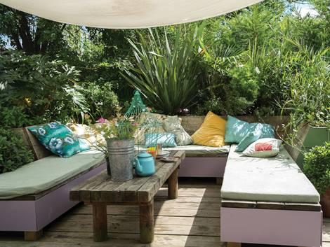 Kleiner Garten, Wohnraum, Foto: Farrow & Ball