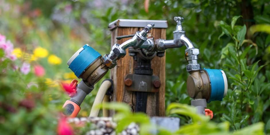 Gartenwasserzähler, Zapfstelle, Wasserhahn, Foto: Tobias Arhelger - Fotolia.com