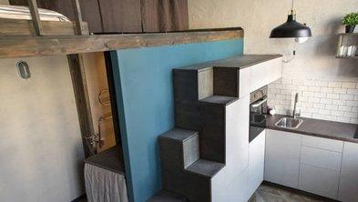 mobiles Haus, Küche im Tiny House, Foto: Addictive / iStock.com