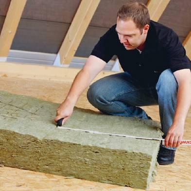 Zwischensparrendämmung, Dachdämmung, Foto: DEUTSCHE ROCKWOOL Mineralwoll GmbH & Co. OHG